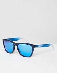 Квадратные солнцезащитные очки с синими зеркальными стеклами Oakley