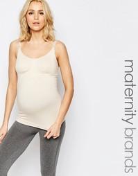 Бежевая майка для беременных и кормящих Cake HONEY - Кремовый