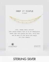 Двойной позолоченный браслет с бусинами Dogeared Keep It Simple