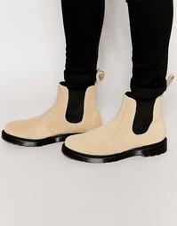 Замшевые ботинки челси Dr Martens - Бежевый