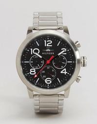 Серебристые наручные часы с хронографом Tommy Hilfiger Jake 1791234