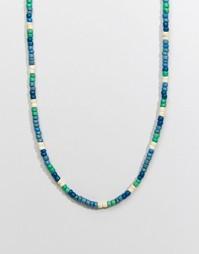 Синее ожерелье из бусин Classics 77 - Синий