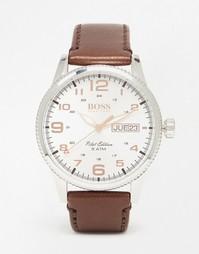 Часы с кожаным ремешком Hugo Boss Black 1513333 - Коричневый