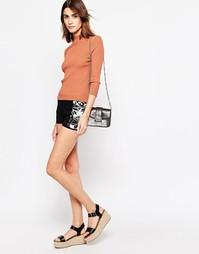 Короткие шорты со вставками See By Chloe - Короткие шорты со вставками