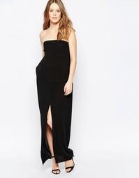 Черное платье-бандо макси Suboo - Черный