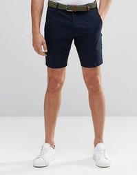 Хлопковые шорты строгого кроя Vito - Темно-синий