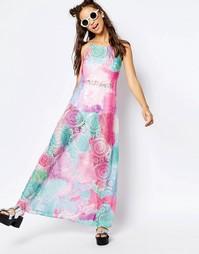 Платье макси в стиле кроше Jaded London - Мульти
