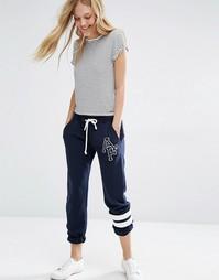 Трикотажные брюки со шнурком и логотипом Abercrombie & Fitch