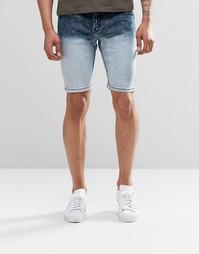 Джинсовые шорты с эффектом деграде Systvm - Синий