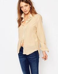 Рубашка в полоску на пуговицах Boss Orange - Золотой