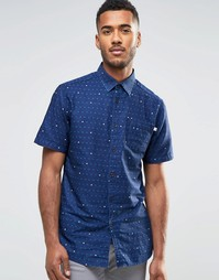 Рубашка с короткими рукавами и принтом Farah - Синий