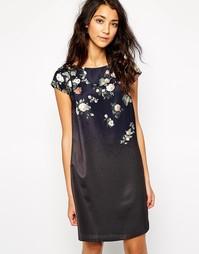 Платье с цветочной аппликацией Esprit - Черный