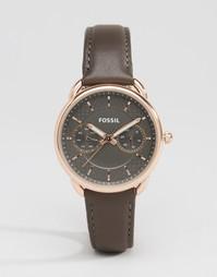 Часы с кожаным ремешком Fossil Tailor - Серый