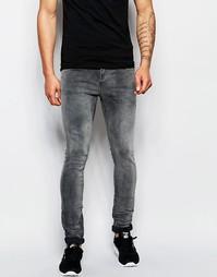 Серые облегающие джинсы Selected Homme - Выбеленный серый