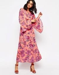 Платье макси c цветочным принтом Free People Melrose