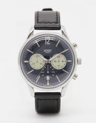 Часы с хронографом и кожаным ремешком Henry London Knightsbridge