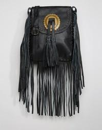 Кожаная сумка Cleobella Bandit Conch - Черный