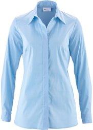 Удлиненная блузка-стретч (черный) Bonprix