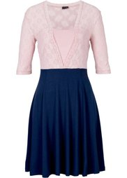 Платье (черный/кремовый) Bonprix