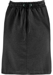 Трикотажная юбка (горячий ярко-розовый меланж) Bonprix