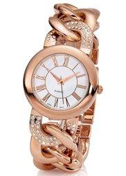 Часы на браслете в форме цепочки (серебристый) Bonprix