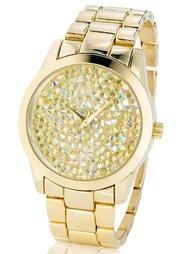 Часы с камешками в области циферблата (серебристый) Bonprix