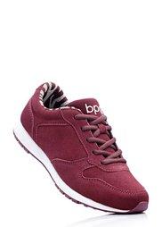 Замшевые кроссовки (бежевый) Bonprix
