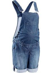 Мода для беременных: джинсовый полукомбинезон (темно-синий «потертый») Bonprix