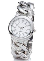 Часы на браслете в форме цепочки (розово-золотистый) Bonprix