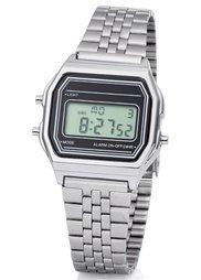 Цифровые часы в стиле унисекс на металлическом браслете (золотистый) Bonprix