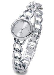 Часы на узком браслете-цепочке (розово-золотистый) Bonprix