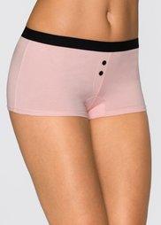 Женские боксеры-брифы (4 шт.) (черный/розовый с рисунком) Bonprix
