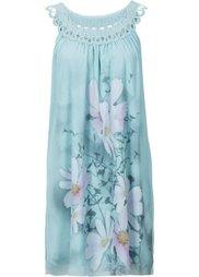 Платье с кружевом (цвет белой шерсти с рисунком) Bonprix