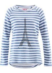 Свитшот дизайна Maite Kelly с длинным рукавом (ярко-розовый матовый/цвет бело) Bonprix