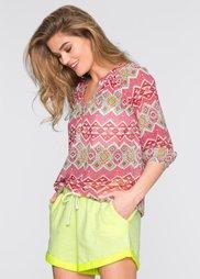 Блузка в этническом стиле (ярко-розовый с узором) Bonprix