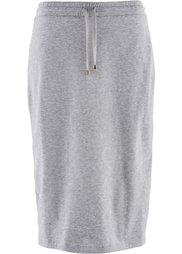 Трикотажная юбка дизайна Maite Kelly (антрацитовый меланж) Bonprix