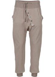 Трикотажные брюки с застежкой на ряд пуговиц (черный) Bonprix
