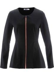 Трикотажная куртка с длинным рукавом от Maite Kelly (белый/шиферно-серый/нежно-лимо) Bonprix
