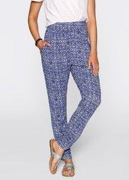 Трикотажные брюки от Maite Kelly (ночная синь/белый с принтом) Bonprix