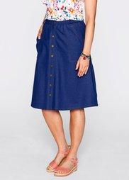 Трикотажная юбка дизайна Maite Kelly (ночная синь) Bonprix