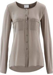 Блузка в смеси материалов ПРЕМИУМ (цвет белой шерсти) Bonprix