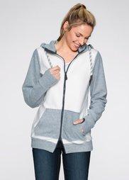 Флисовая куртка (светло-серый меланж/цвет белой) Bonprix