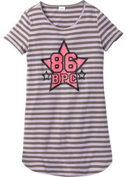 Ночная рубашка из биохлопка (бурый с рисунком) Bonprix