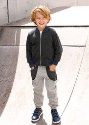 Трикотажные брюки, Размеры  80-134 (светло-серый меланж/антрацитов) Bonprix