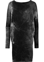 Трикотажное платье в стиле оверсайз (синий) Bonprix