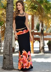 Юбка с принтом (черный с различными расцветкам) Bonprix