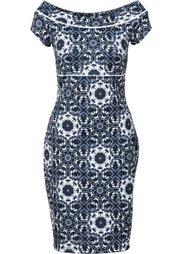Платье из плотного трикотажа (синий) Bonprix