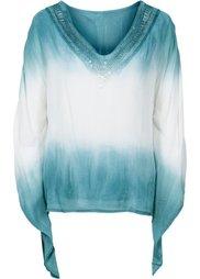 Шифоновая блузка (бежевый/темно-серый с принтом) Bonprix