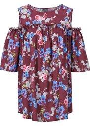 Блузка на одно плечо (нежно-голубой в цветочек) Bonprix