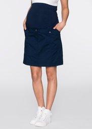 Мода для беременных: вельветовая юбка (темно-синий) Bonprix